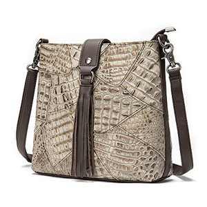 ELDA Embroidery Women Top Handle Satchel Handbags Shoulder Bag Tote Purse Messenger Bags (Retro)