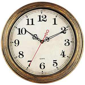 KECYET Wall Clock, 12 Inch Vintage Style, Wall Clocks Battery Operated Silent Non Ticking, Decorative for Living Room, Kitchen, Office, Home, Farmhouse