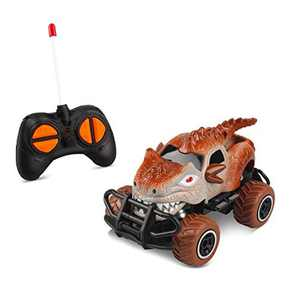 Mini Toys for Kids Dinosaur Remote Control Car for 3 Years Old Boys, Dino Jurassic Trucks for 4-5 Years Old Boys RC Race Cars for Kids Age 6 Grey