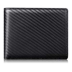 Mens Wallet RFID Genuine Leather Slim Bifold Wallets For Men Removable ID Windows 11 Cards Holders Gift Box (171 Black Stripe)