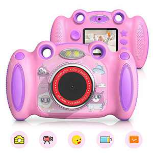Campark Kids Cameras Digital Video Camera for Girls Boys, Toy Gifts for Age 4-8 Dual Selfie, Record Video Photo Play Games, Shockproof Children Digital Camera for Toddler Elementary Students