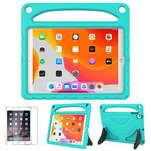 """MOXOTEK Kids Case for New iPad 10.2 2020 (8th Gen) / 10.2 2019(7th Gen) / Air 3rd Generation(10.5"""") / Pro 10.5 inch,Durable Shockproof Protective Handle Stand Bumper Case for iPad 7/8/Air 3, Teal"""