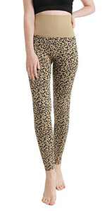 Fleece Lined Leggings Women-Non See Through Thick Thermal High Waisted Leggings Winter Warm Hiking Pants-Compression&Plus Size(Leopard, Small/Medium (0-10))