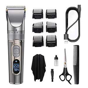 BOLUONI Hair Clippers - Professional Hair Clippers for Men, Electric Hair Trimmer for Men Haircut, Cordless Rechargeable Hair Cutting Kit for barbers with LED Display