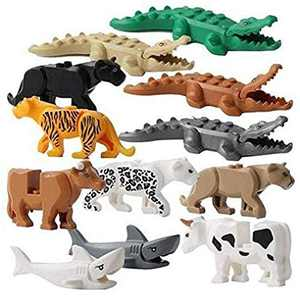FlyCloud Animals Figures Toys, 12 Piece Crocodile Tiger Cow Shark Ornaments Model Animal Learning Party Favors Toys for Boys Girls Kids Toddlers Educational Toys, Best Gifts for Kids
