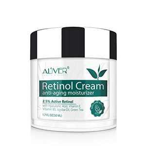 Retinol Cream for Face,IFUDOIT Face Moisturizer with 2.5% Retinol,Hyaluronic Acid,Day and Night Anti-Aging Moisturizing Cream for Women and Men,for All Skin Types