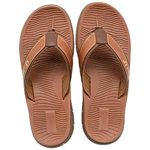 COFACE Men's-Sport-flip Flops-Casual-Comfort-Sandals-with Arch Support-Outdoor-Beach-Size 8 Red-Brown