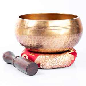 Tibetan Singing Bowl Set - Easy To Play Original Handcrafted Meditation Sound Chakra Healing By Himalayan Bazaar