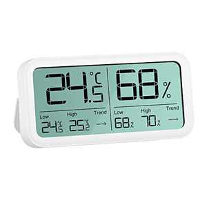 """AMATAGE Digital Hygrometer Indoor Thermometer, 4.7"""" Large Screen Humidity Temperature Gauge ±0.3 °C/3% Accuracy"""