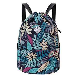 HUA ANGEL Drawstring Sports Bag-Gym Bag Sackpack Outdoor Travel Hiking Backpack for Men Women
