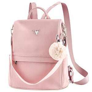 WILSLAT Anti-Theft Backpack Purse for Women, Matte PU Leather Shoulder Bag Lightweight Convertible