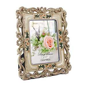 CRUGLA 5x7 Vintage Picture Frame Desk Tabletop Family Picture Frame for 5x7 Photos