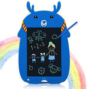 LCD Writing Tablet, Kids Drawing Board Memory Lock 8.5Inch Colorful Doodle Board Erasable Reusable Electronic Drawing Pads , Educational and Learning Toys for 3+ Year Old Girls Boys Gifts(Blue)