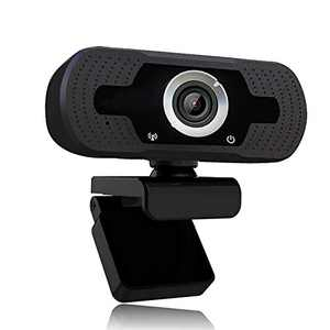 1080p Webcam with Microphone,Full HD 1080p/30fps Video Calling,Clear Stereo Audio,for Desktop PC,MAC,Laptop,Streaming WebcamPlug and Play Webcam for YouTube,Video Calling, Studying, Conference