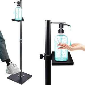 Jewaytec Automatic Hand Dispenser with Stand Touchless Steel Floor Stand,Foot Operated Touch Free with, Can Fill 1000ml