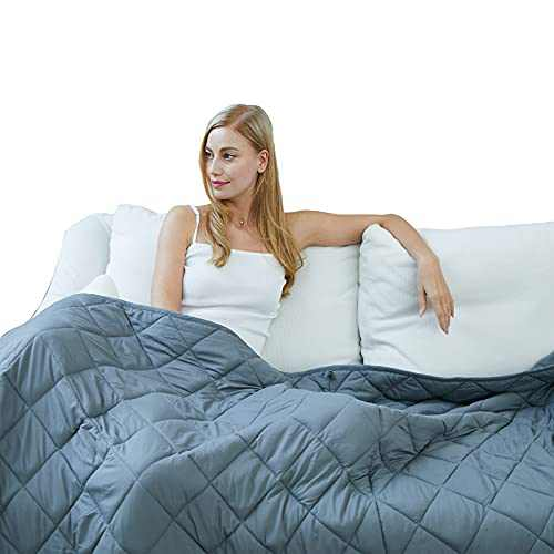 """TreeCube Adult Weighted Blanket 20lbs Queen Size (60"""" x 80"""", 20lbs), Heavy Blanket for Your Lover"""