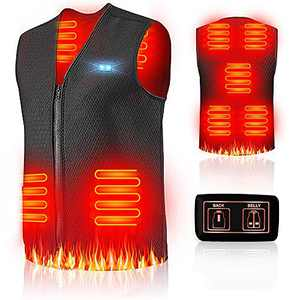 Warming Heated Vest for Men Women,Rechargeable and Washable Electric Heated Jacket with USB Charger (NO Battery)