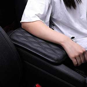 Canrulo Universal Center Console Cover,Waterproof Armrest Cover Center Console Pad, PU Leather Car Armrest Seat Box Cover, Console Box Arm Rest Pads for Most Vehicle, SUV, Truck, Car (Black)