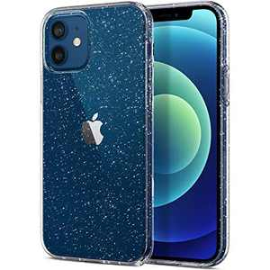 ABenkle Compatible with iPhone 12 and 12 Pro Case, Slim Fit Hybrid Glitter Bling Sparkly Case for Women Shockproof Protective Flexible Bumper Cover for iPhone 12/12 Pro 6.1-Inch 2020, Clear Glitter
