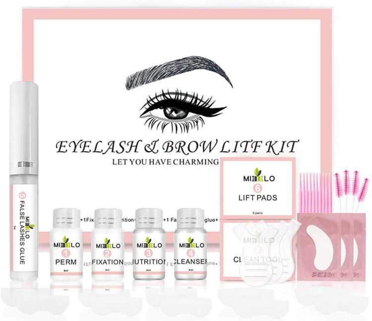Lash Lifting Kit Long Lasting Eyelash Perm Kit Eyelash Perm Curler Kit Eyelash Brow Lift Kit Eye Lashes Lift Liquid Makeup Set for Salon and Home Use