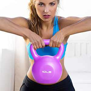 Kettlebell Weight Set, Vinyl Coated Kettlebells, Available Kettlebell Weights 10,15,20lb, Strength Training Kettlebells, Hand Grip Kettlebell Fitness Dumbbells for Women/Men Home Gym Full-Body Workout