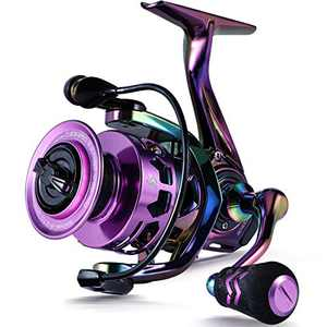Sougayilang Fishing Reel, Colorful Ultralight Spinning Reels with Graphite Frame 6.0:1 Speed, Over 39 lbs Carbon Drag for Saltwater or Freshwater Fishing- SC3000