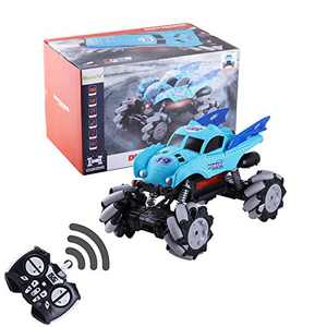RC Truck Car for All Terrains, Masefu 1:12 Dance to Music Monster Car Toy, 45 Km/H High-Speed Remote Control Electric Car with Water Jet Function, on Mud Sand Rock Road Off-Land