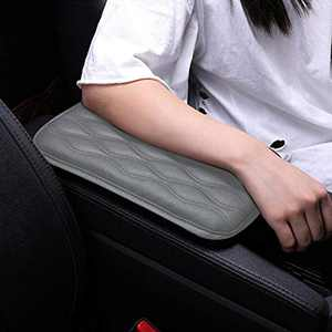 Canrulo Universal Center Console Cover,Waterproof Armrest Cover Center Console Pad, PU Leather Car Armrest Seat Box Cover, Console Box Arm Rest Pads for Most Vehicle, SUV, Truck, Car (Grey)