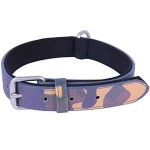 Hikiko Fashionable Leather Dog Collar with Zinc Alloy Metal Buckle Durable and Adjustable Suitable for Small Medium and Large Dogs