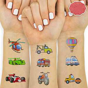 Stickers for Kids, Kids Stickers for Party Favor Supplies 10 Sheets with Cars, Airplane, Train, Motorbike, Ambulance, Police Car, Fire Trucks, School Bus and More!