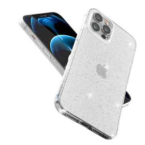 ABenkle Compatible with iPhone 12 Pro Max Case, Slim Fit Hybrid Glitter Bling Sparkly Anti-Scratch Shockproof Protective Flexible Bumper Cover for iPhone 12 Pro Max 6.7-Inch 2020, Clear Glitter