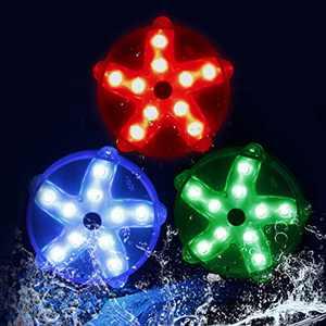 DeeprBlu Floating Bathtub Lights,Color Changing Waterproof Pool Lights,Magnetic Pond Lights,Battery Starfish Led Lights Decor for Bedroom,Spa, Hot Tub, Shower,Party, Halloween,Christmas(3pcs)