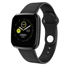 Rogbid Smart Watch Fitness Tracker Heart Rate Blood Pressure Blood Oxygen Sleep Monitor Step Counter Pedometer Waterproof Touch Screen Smartwatch compatile iOS Android for Women Men(Black)