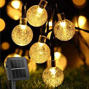 Vertdens Solar Christmas Lights Solar Outdoor String Lights 39.37ft 70 Led Function Color Waterproof Crystal Ball Fairy Lights, Home, Garden, Party, Romantic Decorations Special Night