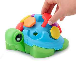 TOYPIX Hexie Counting Turtle Toy for Toddlers - Learning Puzzle Toys for Toddler 1-3 | Montessori Fine Motor Skills Toy - Non-Toxic Durable | Learning Colors, Numbers & Fine Motor Practice for Kids