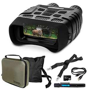 Night Vision Binoculars & Goggles, See Clearly in The Dark, Perfect for Camping, Surveillance & Wildlife Watching, Large Viewing Screen, Bundle Includes Hard Case, Lens Cleaning Brush & 32 GB SD Card