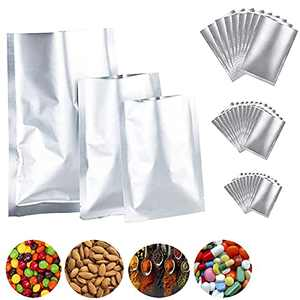 Mylar Aluminum Foil Bags 30 Pieces 3 Sizes, Metallic Mylar Foil Flat Heat Sealable Bags, Food Storage Bags Pouch for Coffee Tea Beans Candy Nuts Cookies