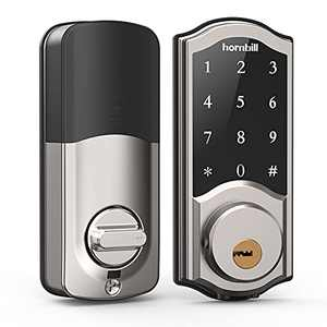 [2021 Newest Version] Smart Deadbolt Lock Front Door, Keyless Entry Door Lock with Keypads, Bluetooth Smart Locks Work with Alexa, Digital Code Lock for Airbnb and Vacation Rental Hosts
