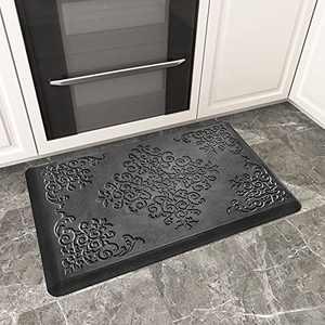 """DEXI Anti Fatigue Kitchen Floor Mat Cushioned Comfort Rug Standing Mats In Front of Sink Waterproof Runner,20""""x30"""",Black"""