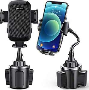 [Upgraded] Humixx Cup Holder Phone Mount Universal Adjustable Gooseneck Cup Holder Cradle Car Mount 360° Rotation for Cell Phone iPhone 12 Pro Max XR/XS/X/11/8/7 Samsung S20 Ultra/Note 10