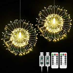Hohoto 150 Leds USB Firework Lights, LED Fairy Lights, 2 Pack of DIY Led Light for Christmas, Home, Patio, Indoor and Outdoor as A Decoration