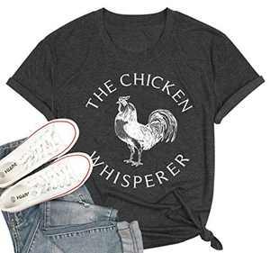 Womens Short Sleeve T-Shirt Mom Life got me Feelin Like HEI HEI Letters Printed Causal Tops Blouse (M, Dark Grey, m)
