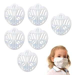 CINBOS Face Mask Bracket 6Pcs The Third-generation Version 3D Mask Bracket - Lipstick Saver for Face Mask Food-grade PE Material Mask Inserts for Adults/Kids(6Pcs) (Kids)