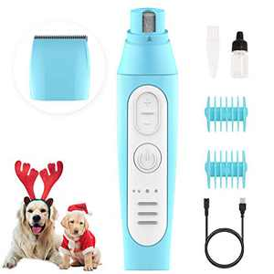 BABYLTRL Dog Nail Grinder & Dog Clippers, 2 in 1 Pet Nail Grinder 3 Speed Rechargeable Dog Grooming Clippers Painless Paws Smoothing Dog Nail Trimmers Low Noise for Large Medium Small Dogs & Cats