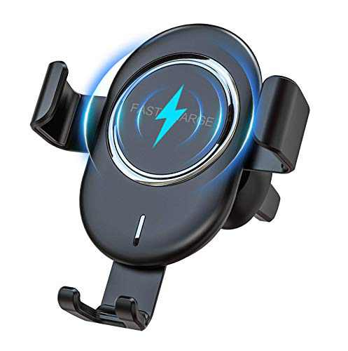 Wireless Car Charger Mount, Maxuni Automatic Clamping Gravity 10W Fast Charger Car Mount Phone Holder, Auto Grip Vent & Bracket 2 in 1 for iPhone 11 Series/SE/XS/XR/8/8 Plus, S9/S9+/Note 8