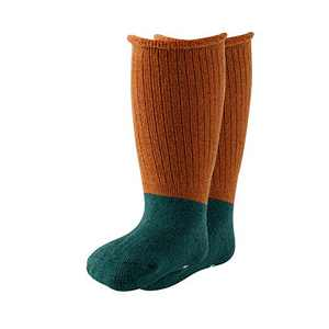 Over the Calf Baby Socks Non-slip Warm Socks with Non-binding Cuff for 0-24 Months Baby Boys and Girls