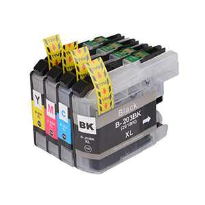 CHAILLY Ink Compatible Ink Cartridge Replacement for Brother LC203XL LC203 XL to use with MFC-J480DW MFC-J880DW MFC-J4420DW MFC-J680DW MFC-J885DW (1Black, 1 Cyan, 1 Magenta, 1 Yellow 4 Pack