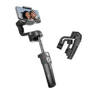 MOZA Mini S Extendable Foldable 3-Axis Gimbal Stabilizer for Smartphone with Quick Play Back,One-Button Zoom, Time-Lapse, Object Tracking, Inception Mode Function for iOS/Android