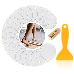 ESUSTER 24 PCS Non-Slip Bathtub Stickers, Anti Slip Shower Strips Treads, Large Safety Bathroom Tub Adhesive Strip with Scraper for Slippery Bathroom Tubs Shower Room Floor Stairs