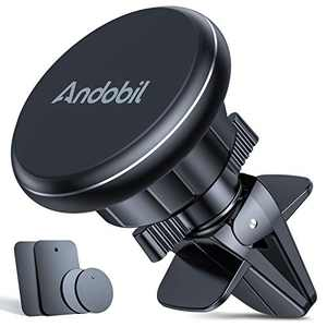 [Easy Installation] Andobil Magnetic Car Vent Phone Mount [Super Stable] Only 1s to Put in or Take Out, 360 Degree Rotation Adjustable Auto Magnet Phone Mount Fit with All iPhone, Samsung, LG & Other